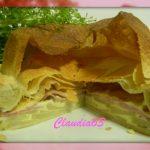 Torta patate, scamorza e speck