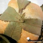 Pane al rosmarino in foglie di castagno