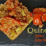 Quinoa peperone e zucchina trombetta