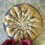 Pane fiore intrecciato