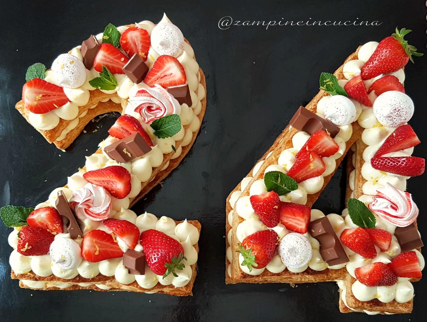 millefoglie Cream tarte con namelanka e fragole